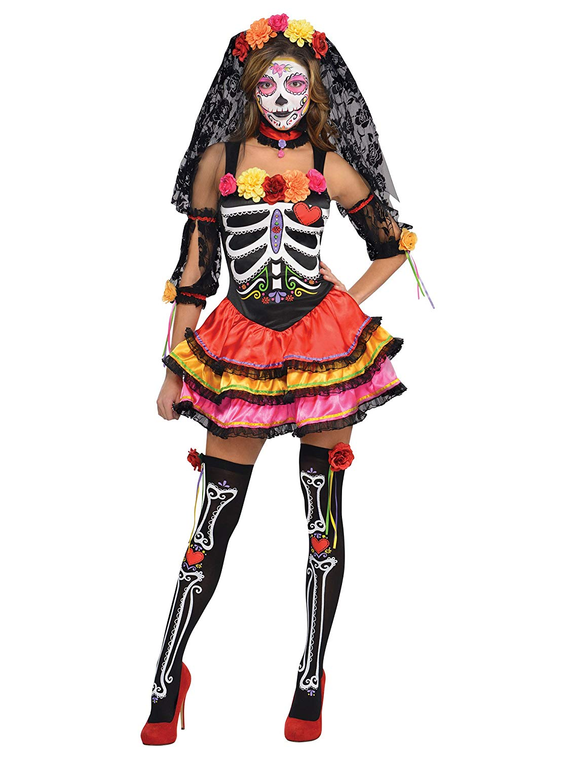 female day of dead costume