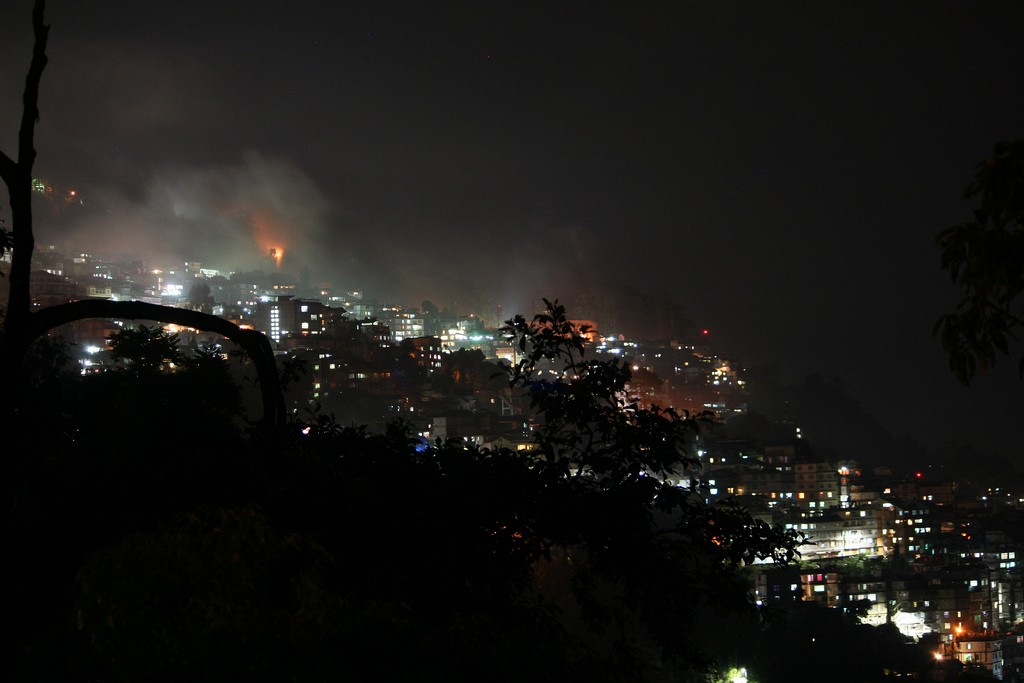 gangtok at night