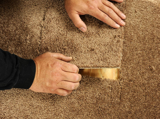 Fixing carpet damage