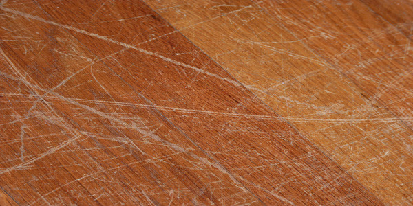 How to fix scratched floor