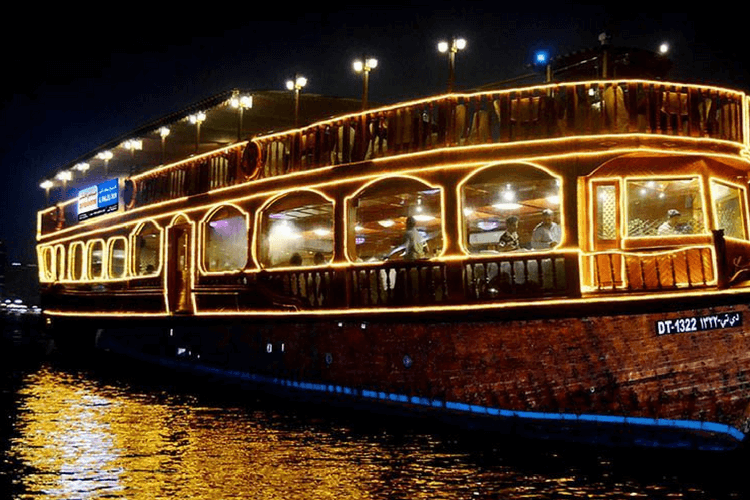 Dhow Cruise Dubai at Night