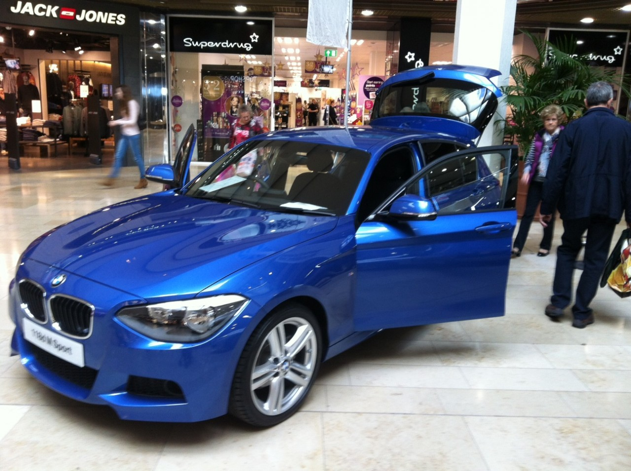 BMW Showcased two models the 2 series active tourer and the 1 series 118d