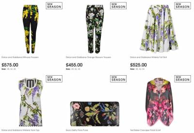 Shop online for your top designer brands grouped by floral style