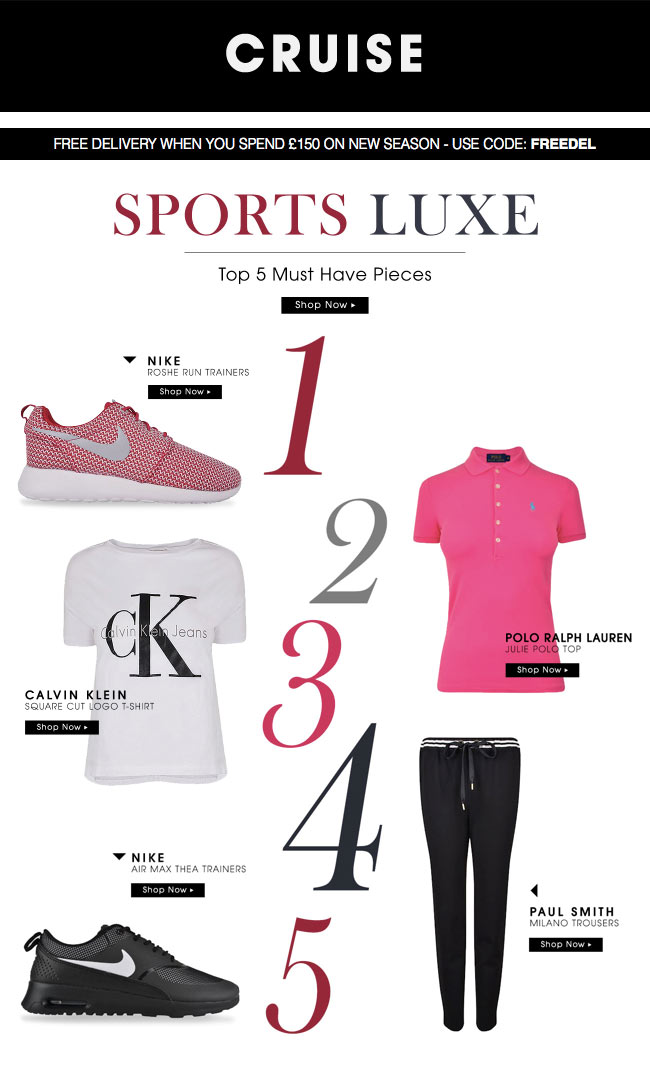 Cruise Spring Summer Promo Code Sports Luxe