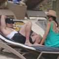 Channing Tatum with classic cap while in St Barths with his wife Jenna Dewan sporting a nice straw sun hat.