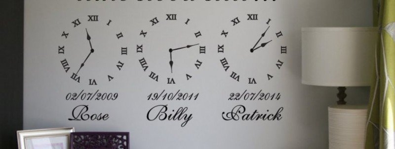 birth time decals