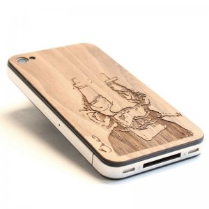 Laser wood IPhone 4 covers