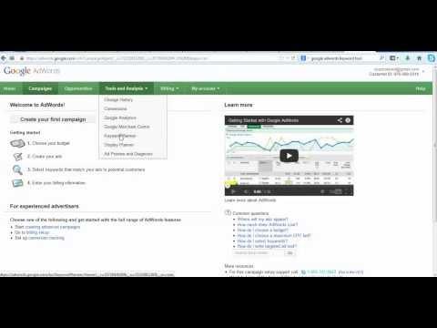 Google Adwords + Keyword Planner Tutorial - A beginner's guide keywords